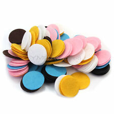 200Pcs 30mm Mixed Colors Die Cut Felt Circle Appliques Cardmaking DIY Craft
