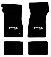 NEW 1967-1969 Camaro Floor Mats Black Set of 4 Carpet Embroidered RS Silver Logo