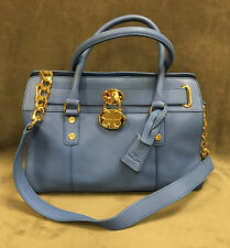 NEW EMMA FOX $278 LIGHT BLUE CAMBRIDGE LEATHER SATCHEL HANDBAG BAG