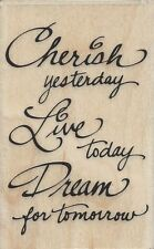 """Cherish, Dream"" Rubber Stamp by Stampendous"