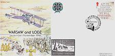 GW7 RAF Great War Cover 1914 WWI WW1 Warsaw & Lodz cover 2014  postmark