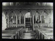 Glass Magic Lantern Slide BRADNINCH CHURCH ROOD SCREEN C1900 DEVON ENGLAND