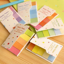 Rainbow Colored Sticker Maker Post-it Sticky Notes Bookmark Memo Flags Index Tab