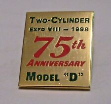 """John Deere Model """"D"""" Tractor Two Cylinder Expo VIII 1998 Hat Pin Tie Tac Farm Ag"""