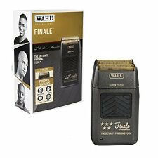 Wahl 8164 Finale 5 Star Electric Black Shaver-BUMP FREE