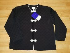 NWT Susan Graver Style Women' s Size 2 XL Champagne Coated button Up Jacket