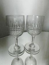 - 2 verres anciens à porto  cristal  BACCARAT modèle NANCY ( 2 en stock )