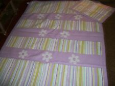 Maggie Miller Twin Quilt with Pillow Sham Flowers and Stripes
