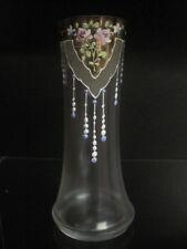 Vase Glas Jugendstil EMAILLE HANDMALEREI 2
