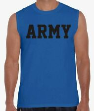 ARMY Physical Training US Military Crossfit Workout Gym PT Sleeveless T Shirt