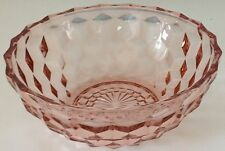 JEANETTE GLASS - PINK - CUBE / CUBIST - SALAD BOWL - 6 1/2""