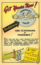 Fisherman's Friend in 2 Convenient Sizes Comic Postcard