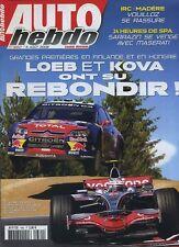 AUTO HEBDO n°1660 du 6 Août 2008 GP HONGRIE 24h de SPA WRC FINLANDE