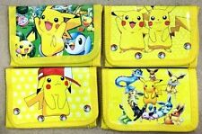 Pokemon Go Pikachu Anime Cosplay Wallet Boy Girls Student Bifold Leather Purse
