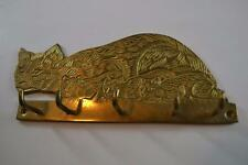 Vintage Brass Cat With Kittens Key Holder Made in India
