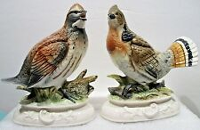 "TWO NAPCOWARE BOB WHITE  FIGURINES   7.5"" H * 7"" L * 3.25"" W"