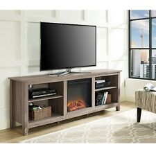 Walker Edison 70inch Fireplace TV Stand - Driftwood - W70FP18AG NEW