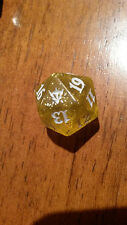 Dragons of Tarkir Sparkly Yellow Spindown Life Counter mtg Dice d20 Magic