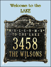 Whitehall Welcome to the Lake Address Marker Custom Plaque 17 Colors & No Rust