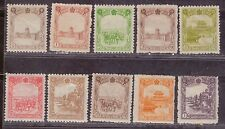 1936-37 Japanese colony in China stamps, Manchukuo 满洲國, 1/2f to 1y MH