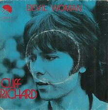 "45 TOURS / 7"" SINGLE--CLIFF RICHARD--DEVIL WOMAN / LOVE ON--1976"
