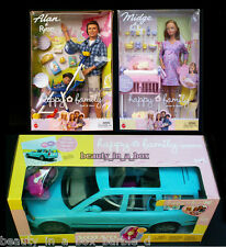 Pregnant Midge Barbie Doll Baby Alan Ryan Happy Family Volvo ""