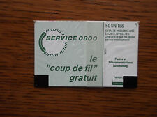 PHONECARD SEALED 50 UNITS SERVICE 0800 POSTES ET TELECOMMUNICATIONS LUXEMBOURG