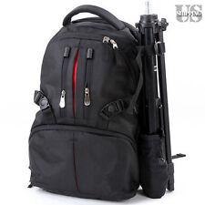 DSLR SLR Camera Backpack Case Bag Shockproof for Canon Nikon Sony Pentax Black