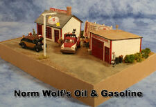 Wolf's Gas & Oil HO scale Craftsman Structure by Railroad Kits -  Easy Fast Fun