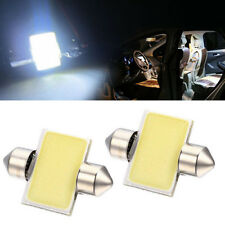 2 X White 31mm 12smd COB LED Bulb Festoon lamp For Car Interior Dome Map Lights