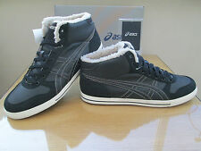 ASICS TIGER AARON MT HI TOP BLACK WARMLINED TRAINERS CHUKKA BOOTS SIZE 12 EU 48