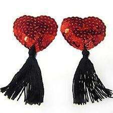 nipple cover pasties breast tassel tassels red sequin tassels