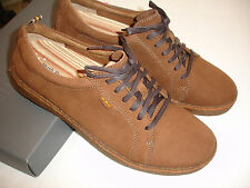Mens HUSH PUPPIES Lockout Oxfords Solid Brown Nubuck Leather Shoes Sz 9.5 M