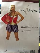 WONDER WOMAN 2PC HERO GIRL ADULT COSTUME SIZE XL LEG AVENUE NEW