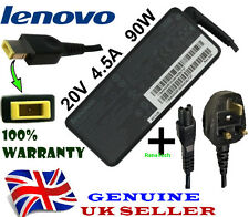 Genuine IBM Lenovo 20V 4.5A 90W Laptop Netbook Charger Adapter + UK Power Cable