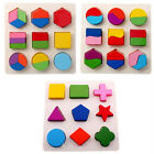 Top Promotion Wooden 9 Shapes Colorful Puzzle Toy Baby Educational Brick Toy SJ1