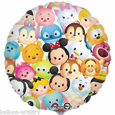 "18"" Disney's Adorable Tsum Tsum Collection Children's Party Round Foil Balloon"