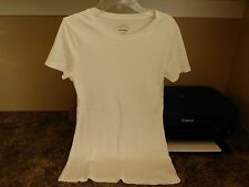 OLD NAVY WHITE 100% COTTON SHORT SLEEVE  TOP  SIZE M  EUC