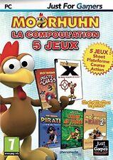 MOORHUHN  :  LA COMPOULATION  5 JEUX         -----   pour PC