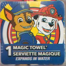 PAW PATROL CHASE & MARSHAL MAGIC TOWEL!(TM) 100% COTTON! NEW! CARTOONS!