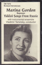 Marina Gordon - Yiddish Songs From Russia (Cassette, 1994, CM-7373) NEW