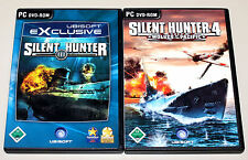 2 PC SPIELE SET - SILENT HUNTER III IV 3 4 - U BOOT SIMULATION WOLVES OF PACIFIC