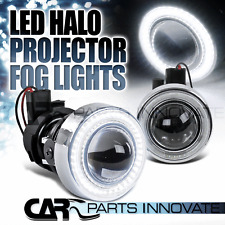 H3 12V/55W Clear Glass Lens 40-SMD LED Halo Projector Fog Lights Driving Lamps