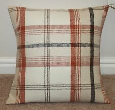 "PORTER & STONE BALMORAL TARTAN CHECK CUSHION COVER AUTUMN 16"" x 16"""