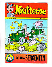 "Krutterne No 4 -1973 - Danish Sad Sack -  ""Flying Jeep Cover!  """