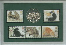 Cats Pussy Cat Breed Feline Crown Coin Stamp Gift Set Present Collector Display