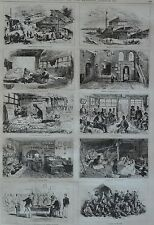 NY Daily Graphic. The War in the East, Belgrade. 1876.