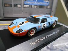 Ford gt40 racing le mans 1969 winner #6 Gulf Ickx Oliver White Box sp Ixo 1:43