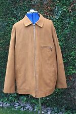 Bush 44 Reg Medium Brown Suede look zipped short bomber jacket hardly worn