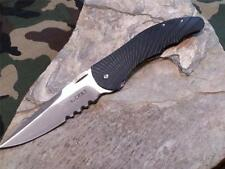 CRKT Enticer Folding Knife Outburst Assist Open Fire Safe Serrated G10 1061